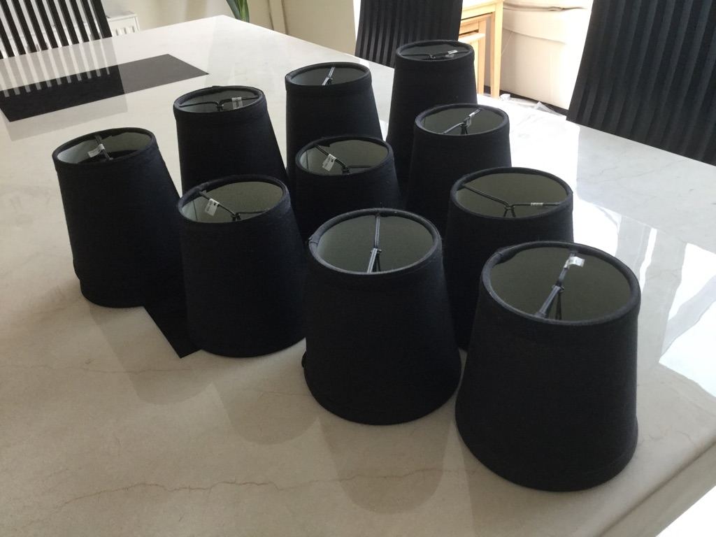 14 Black lamp shades for sale