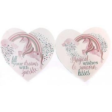 Unicorn heart plaque