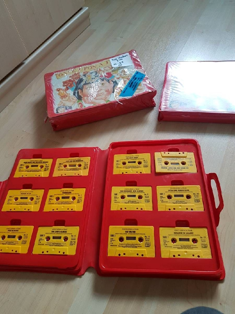 Once upon a time cassette tapes and books