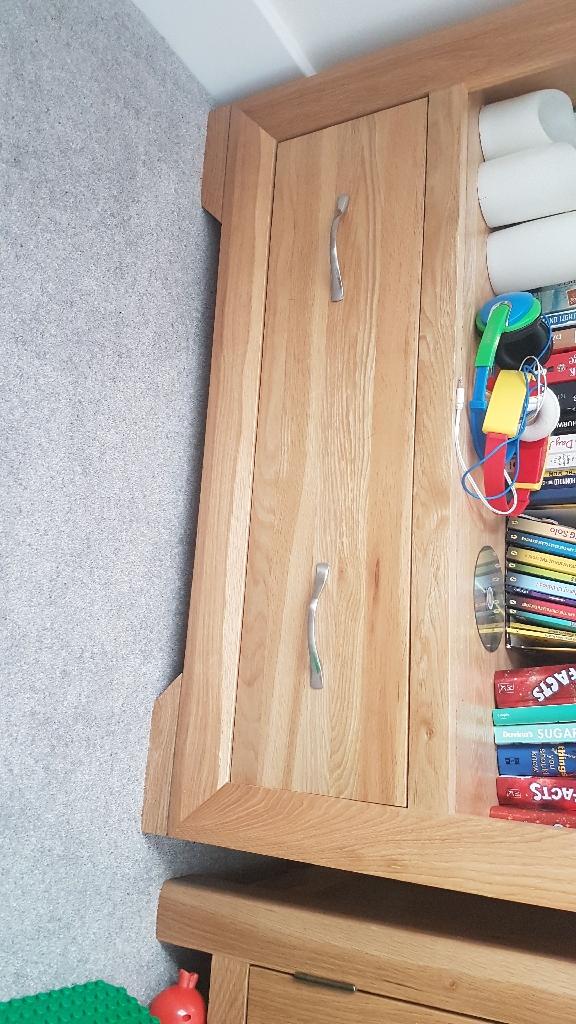 Oak furniture land book case