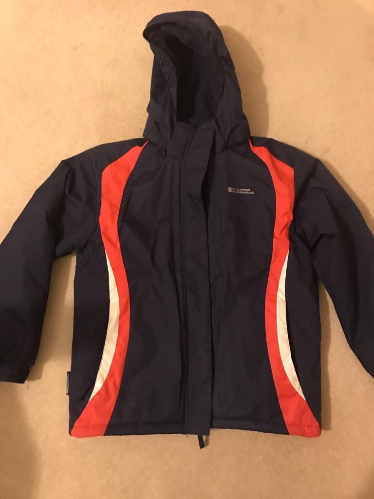 Children's Ski Jacket - Navy & Coral
