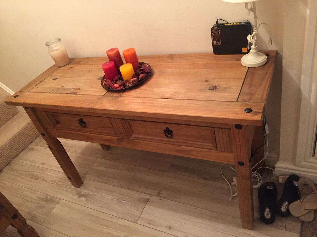 Two wooden tables