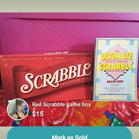 Scrabble board game with book