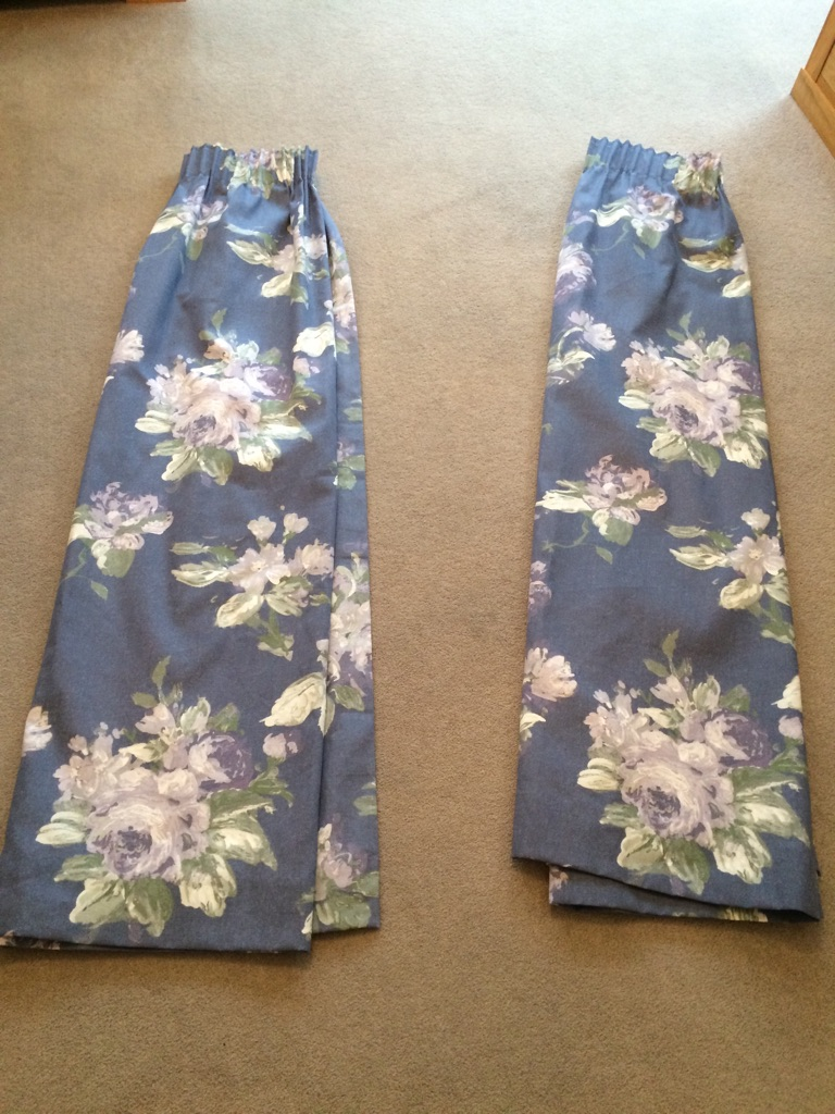Laura Ashley Violetta Iris Ready Made Curtains
