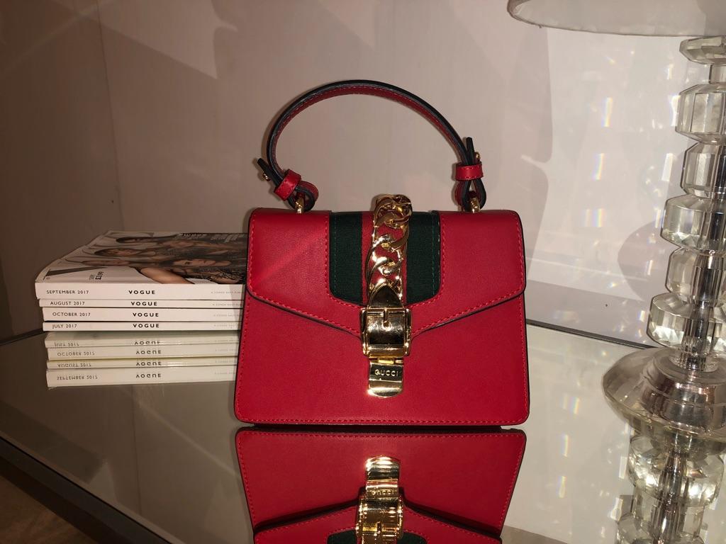 Red Mini Gucci Sylvie Bag