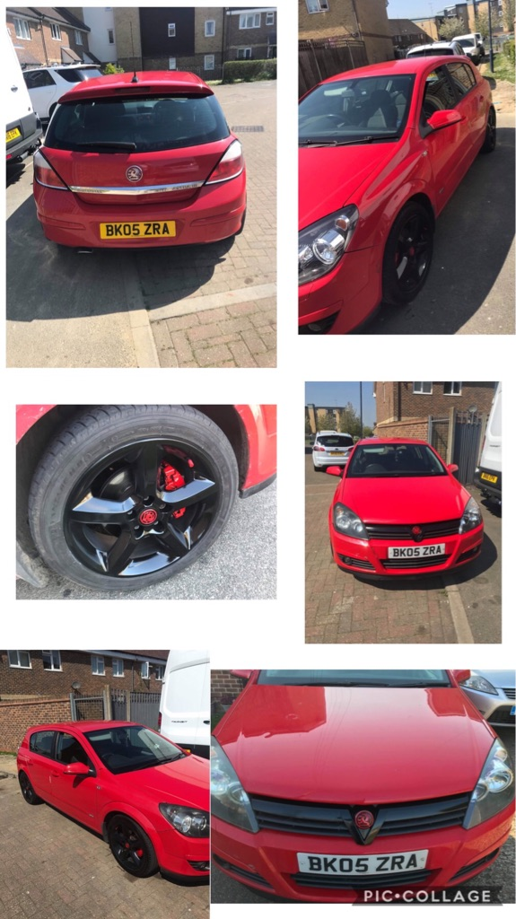Red Vauxhall Astra SEI sport