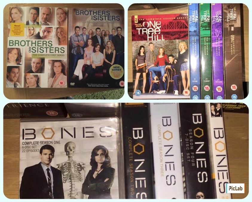 DVDs Bones, One tree Hill, brothers & sisters