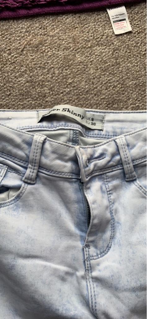 X3 size 8 women's jeans