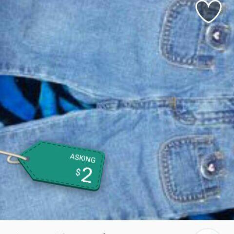 Denim blue jeans size 12 months