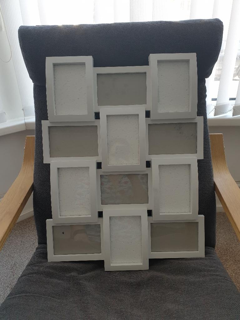 White photo frames.