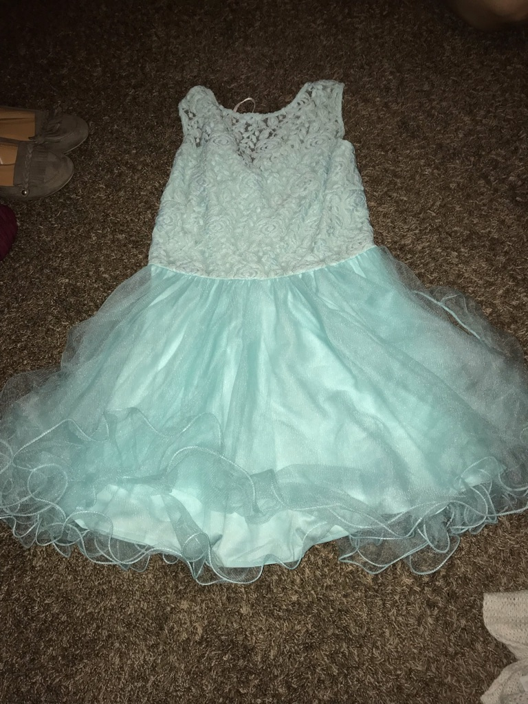 Baby blue dancing queen dress short XL