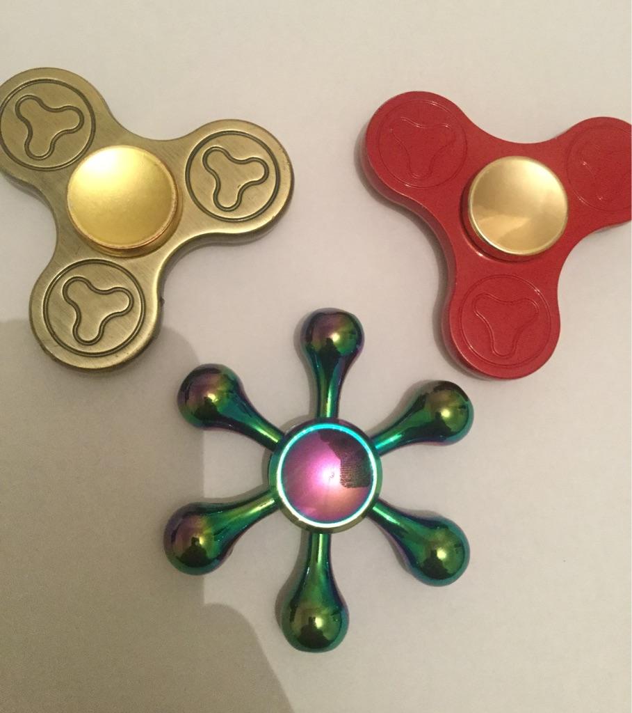 3 Metal Fidget Spinners
