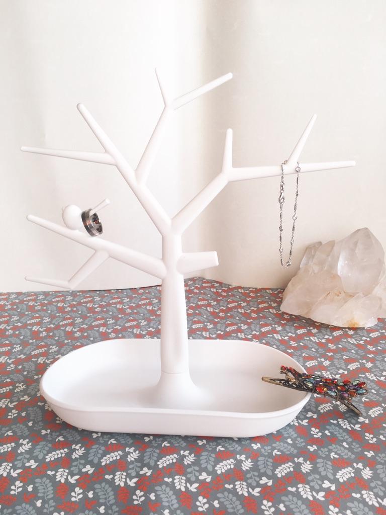 White Jewellery Container/ Organiser