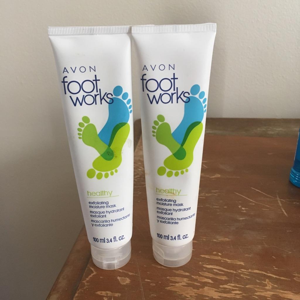2 bottles of Avon foot works 100ml or 3.4fl.oz $10