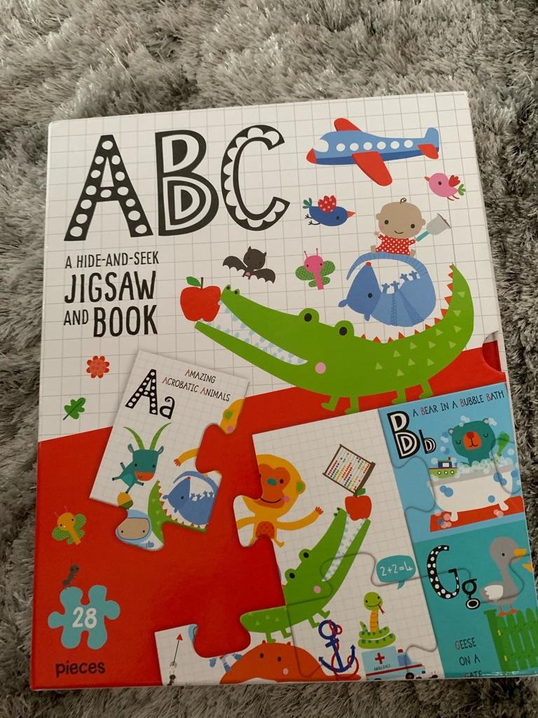 ABC jigsaw and book set.