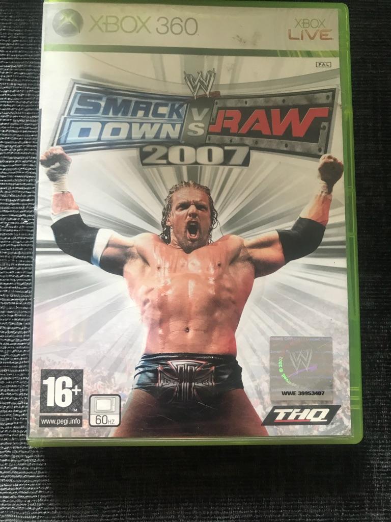 Smackdown vs raw 2007 Xbox 360 game