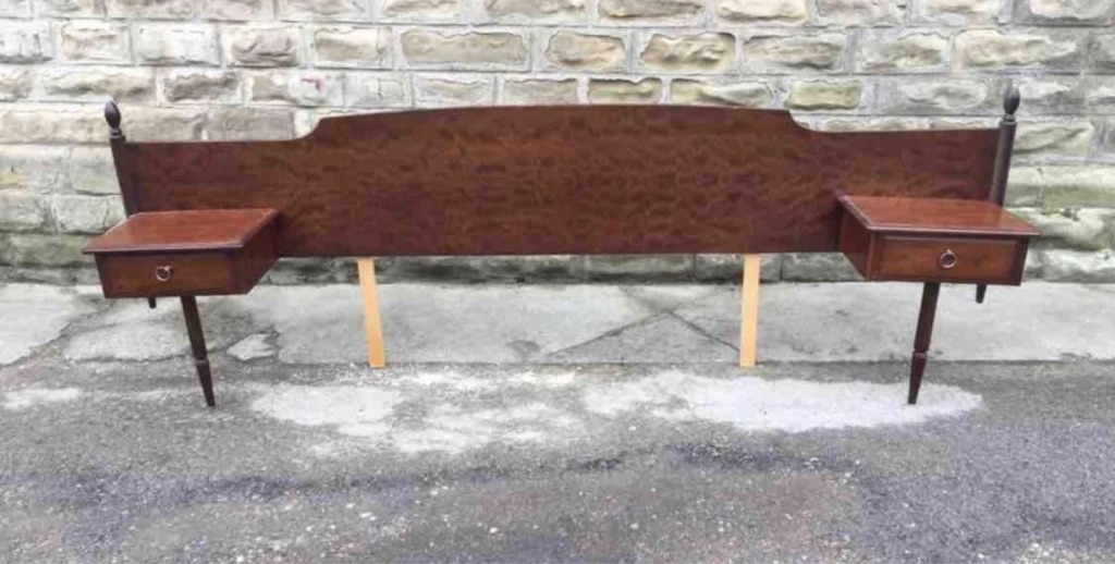 Stag Minstrel headboard and side tables
