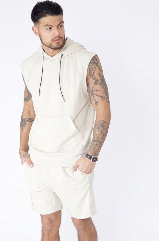 Sleeveless Hooded Sweat - available In 2 colours