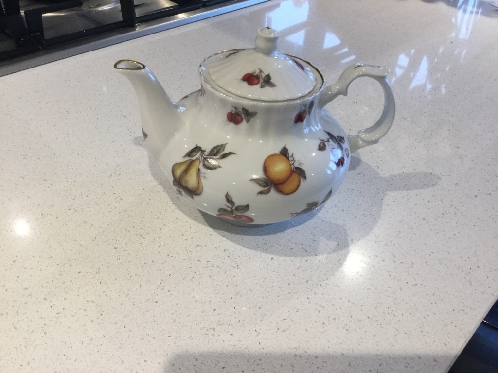 Pretty Fine Bone China Tea Pot