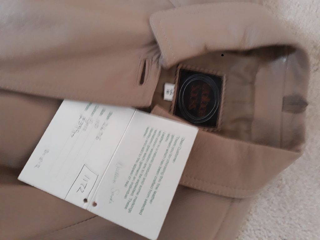 Wallace Sacks Ladies Leather Coat.