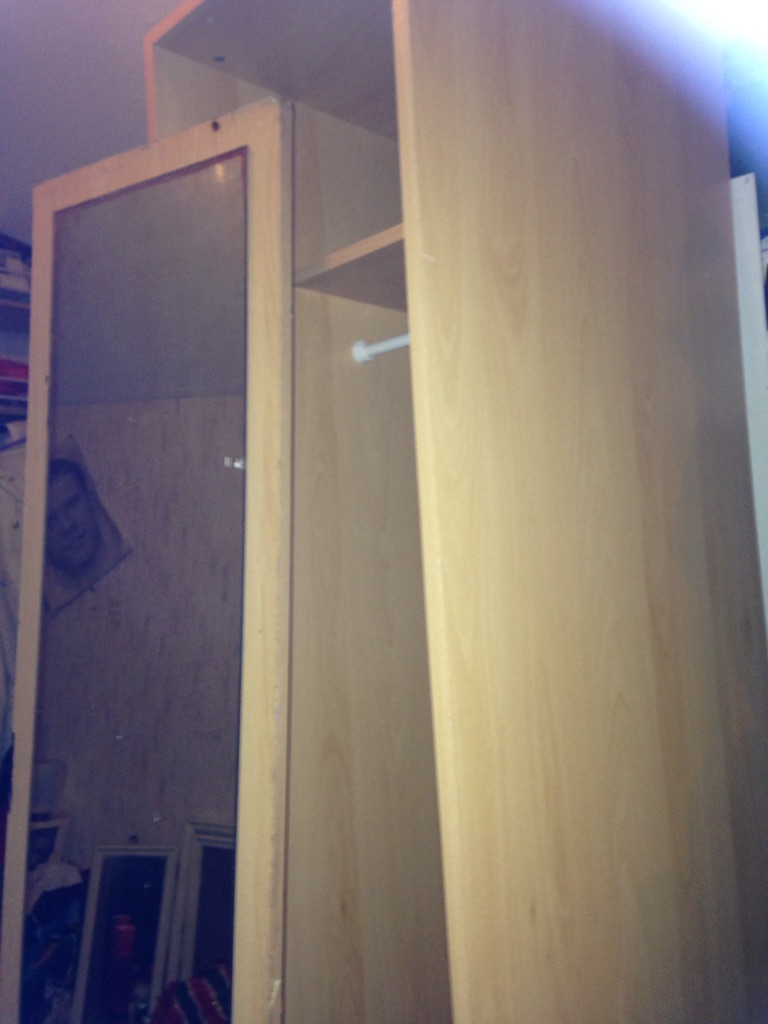 Wardrobes new boxed flat tall 4xsingles mirror doors£15each