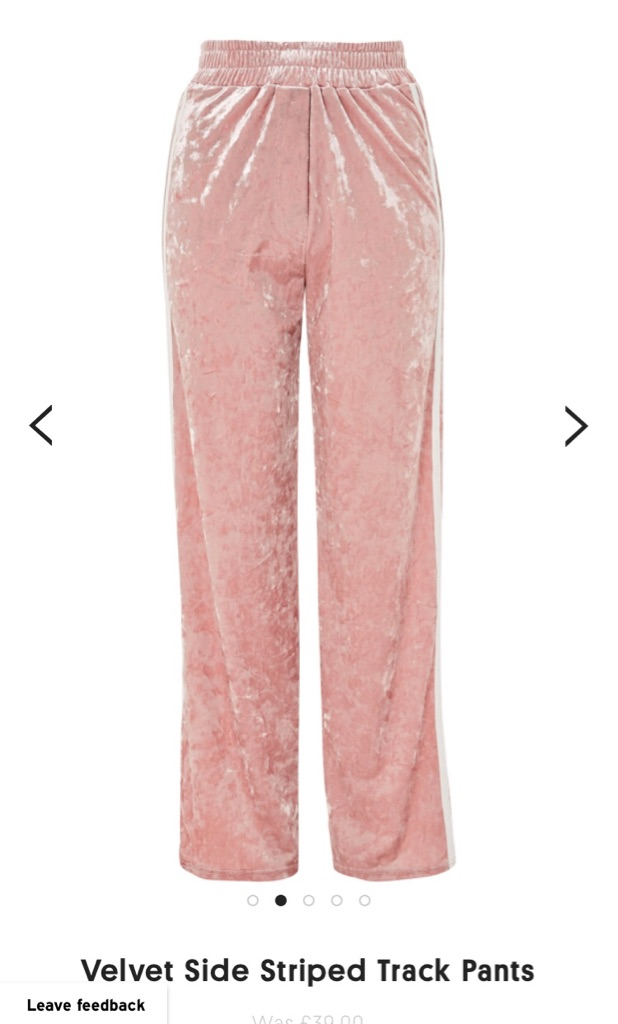 Brand New With Tags Topshop velvet pink trousers