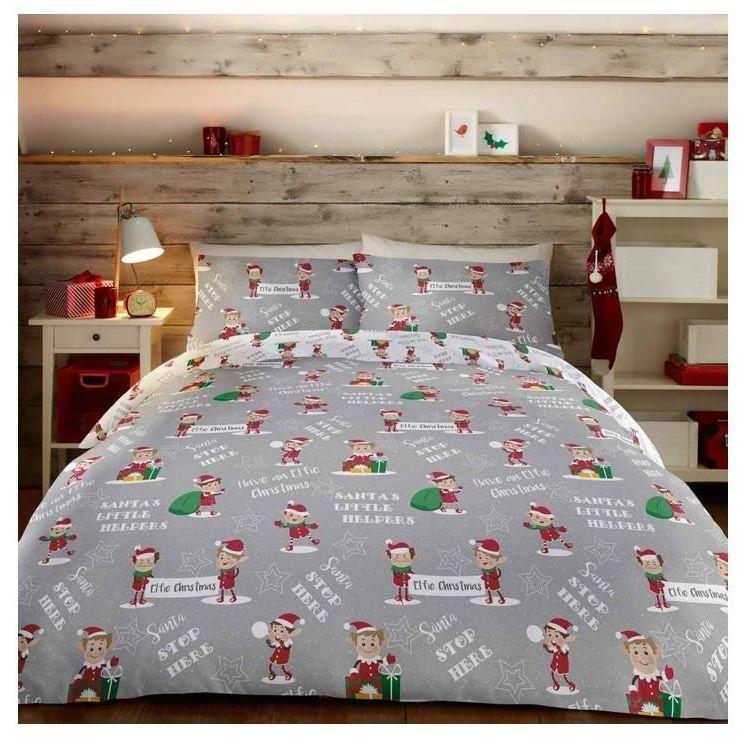 Elfie Christmas Reversible Duvet Covers Red