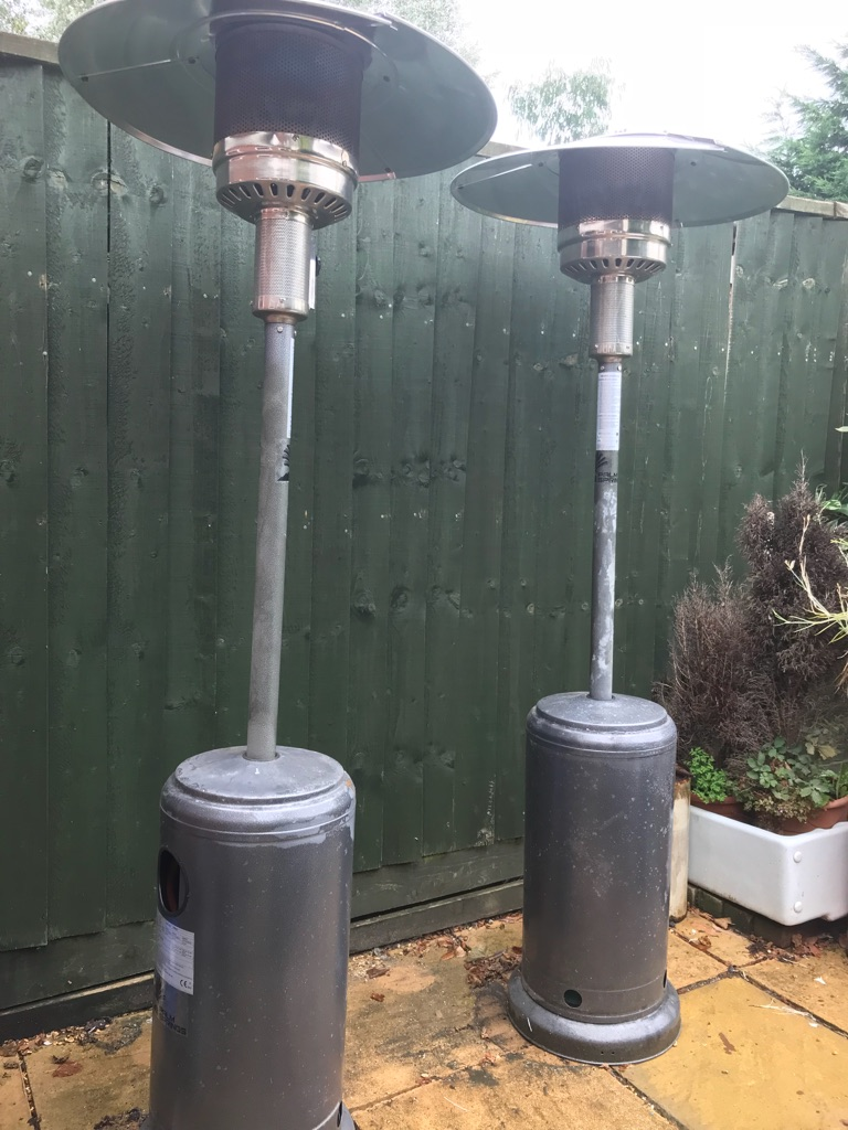 Two patio heaters