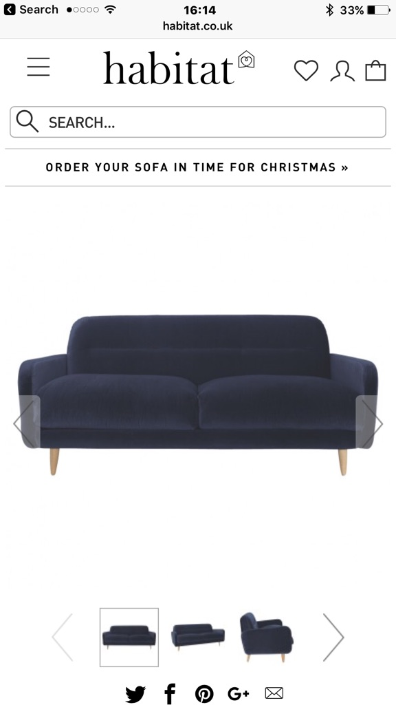 As new habitat ABLE sofa