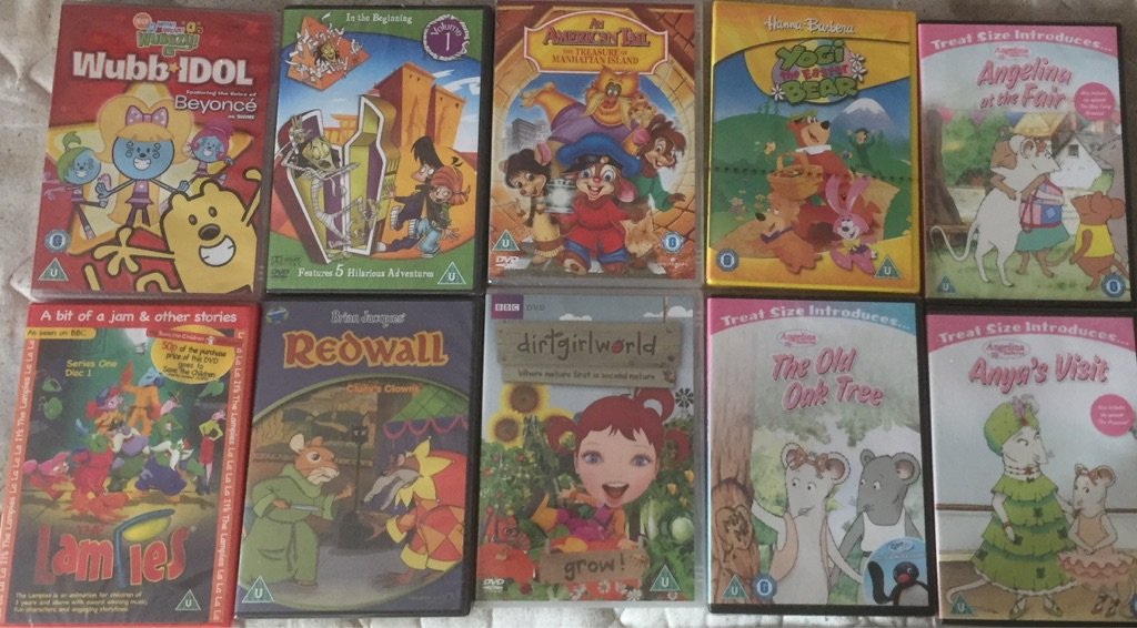 X10 children's DVD's all brand new and factory sealed