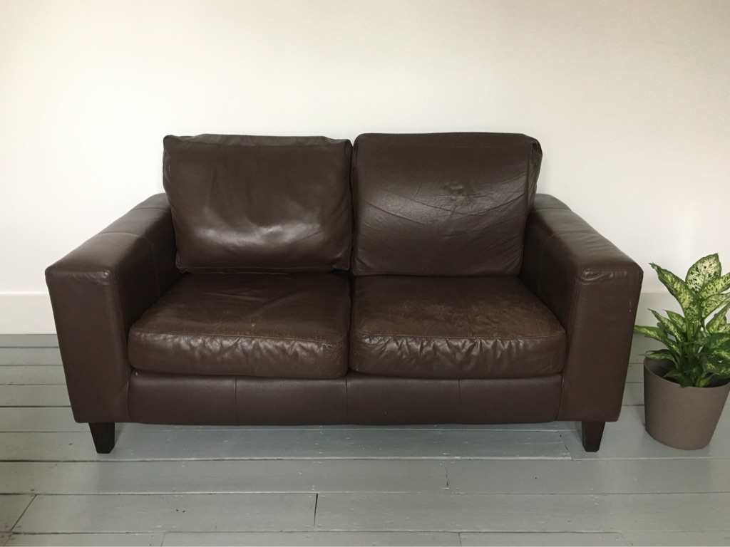 Two leather sofas for sale!