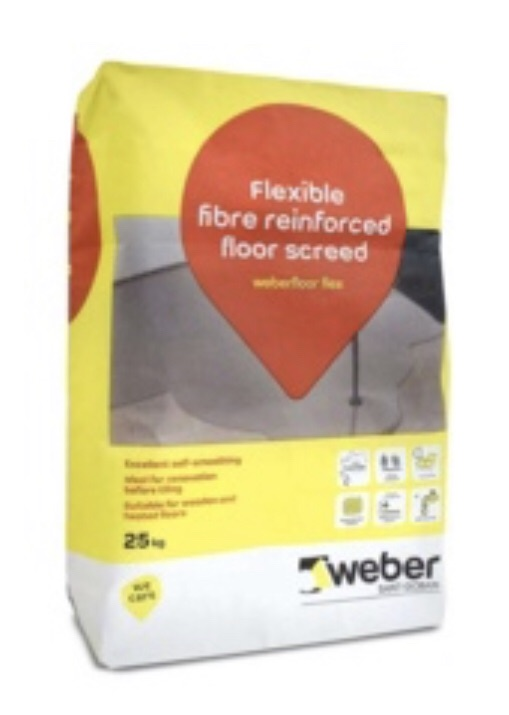 Weber flexible floor screed