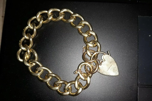 Vintage 9ct Gold Charm Bracelet  with ornate GJ Georg Jensen Padlock clasp 38.6grams