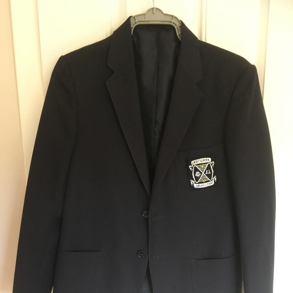 Girls Navy Blazer Johnstone High Badge