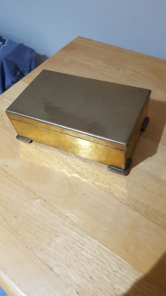 Antique Brass Box fully lined