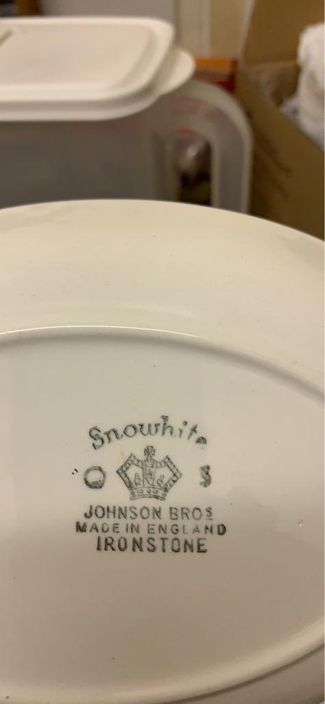 Snowhite Johnson Bros made in England Ironstone