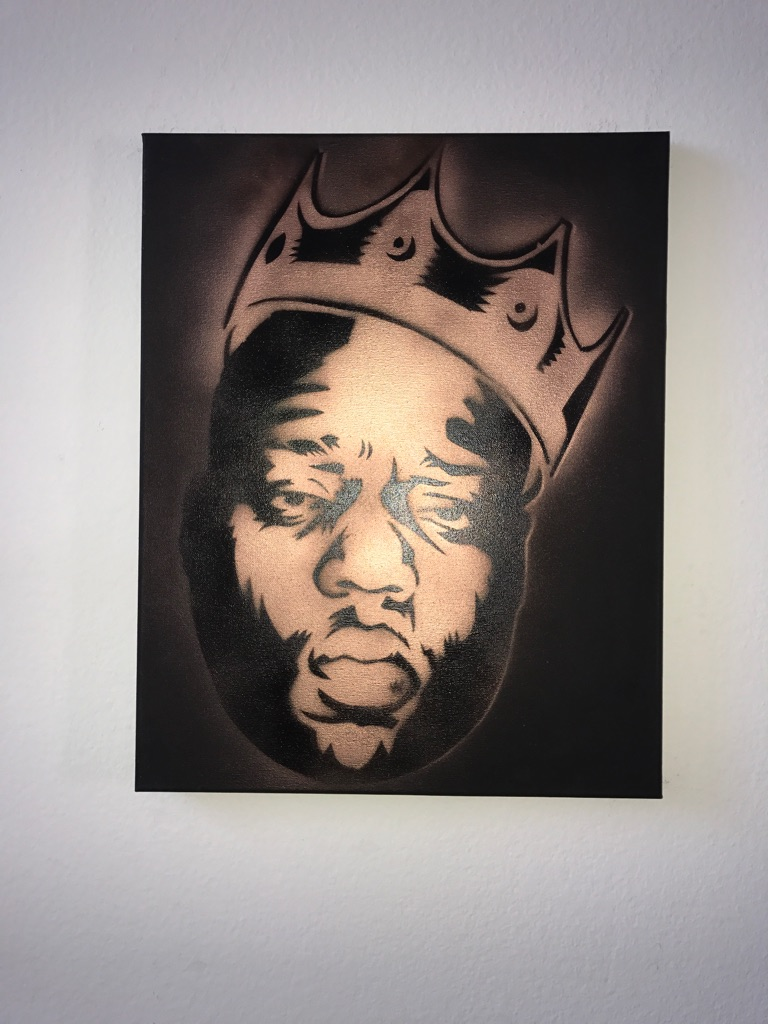 Biggie Smalls 16x20 Graffiti Canvas