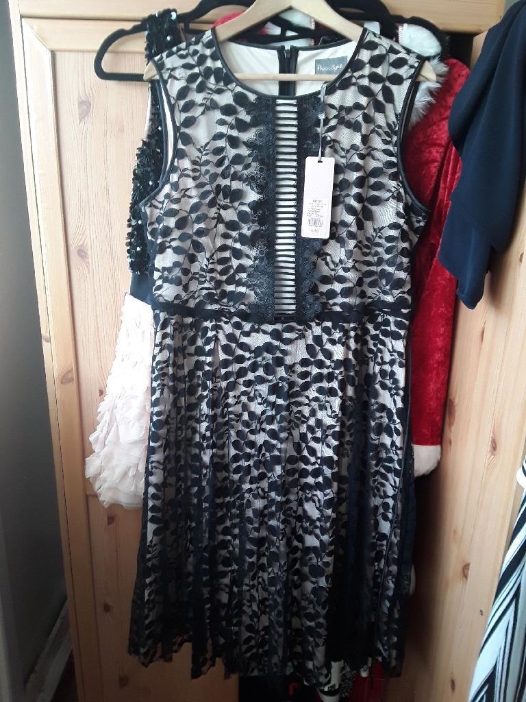 BRAND NEW BLACK DRESS SIZE 16