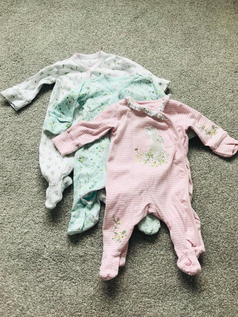 Mini Club baby girl newborn sleepsuits