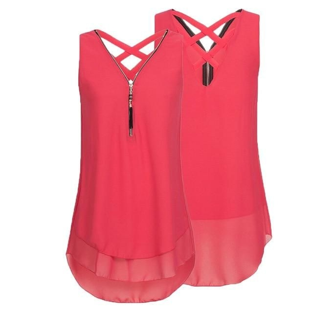 Summer Women Loose Sleeveless Tank Top