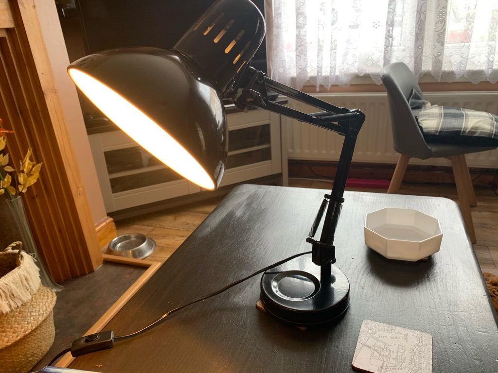 Arm table lamp
