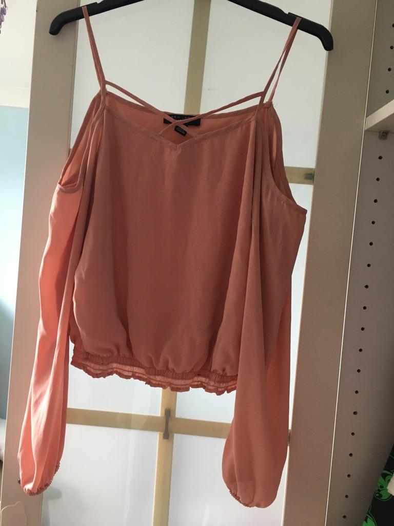 New look girls pink top