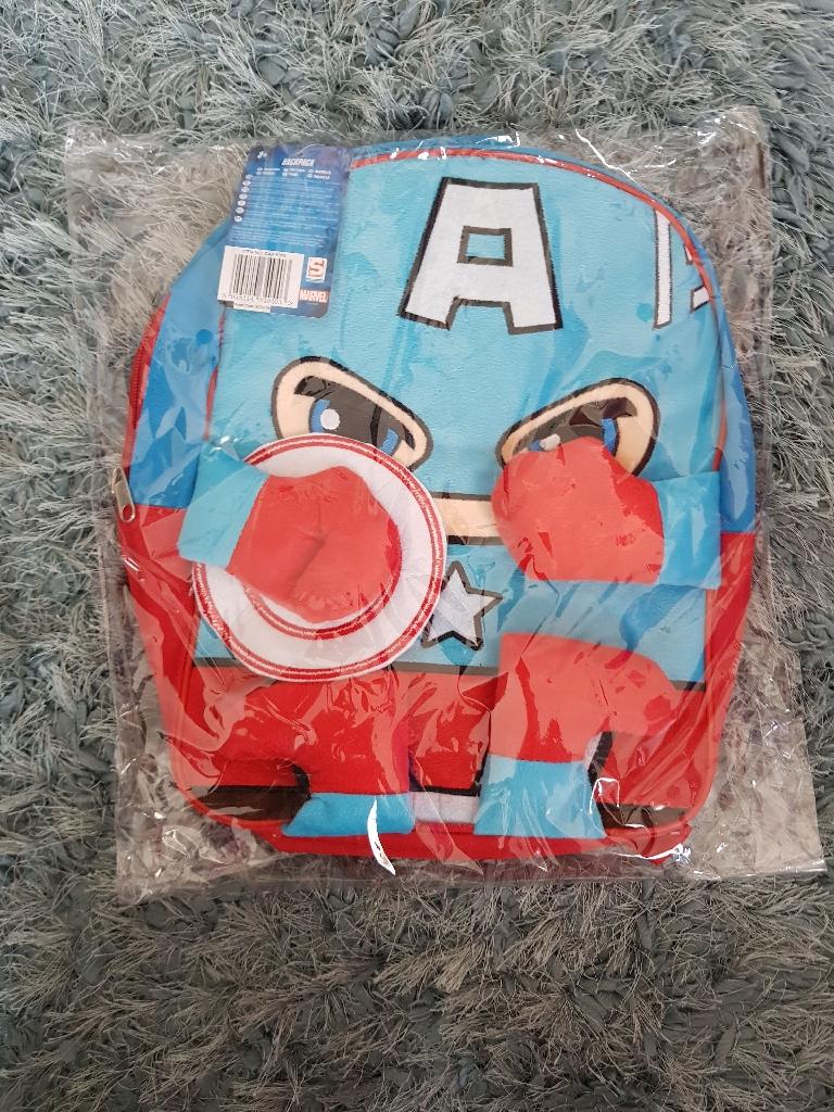 Brand new captain America plush backpack