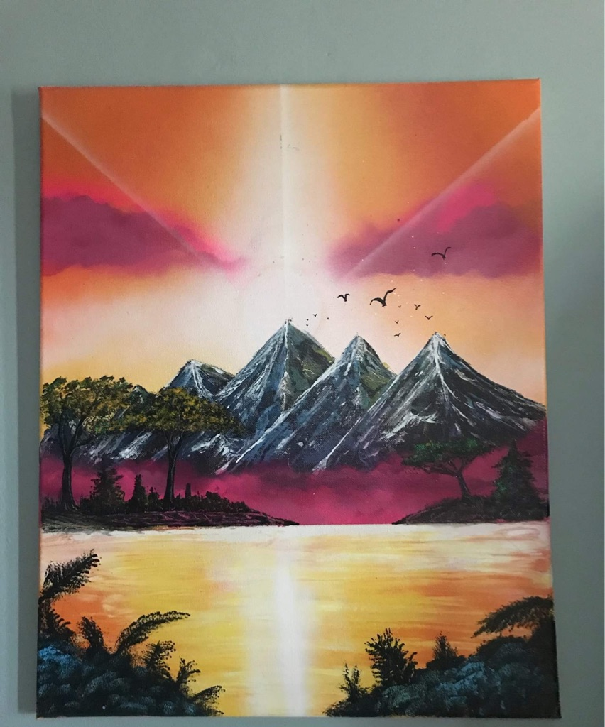 Spray Painted mountains