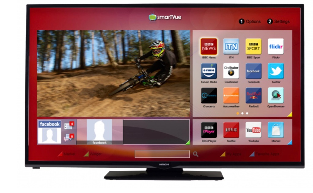 "Hitachi 42"" FULL HD, FREEVIEW SMART TV"