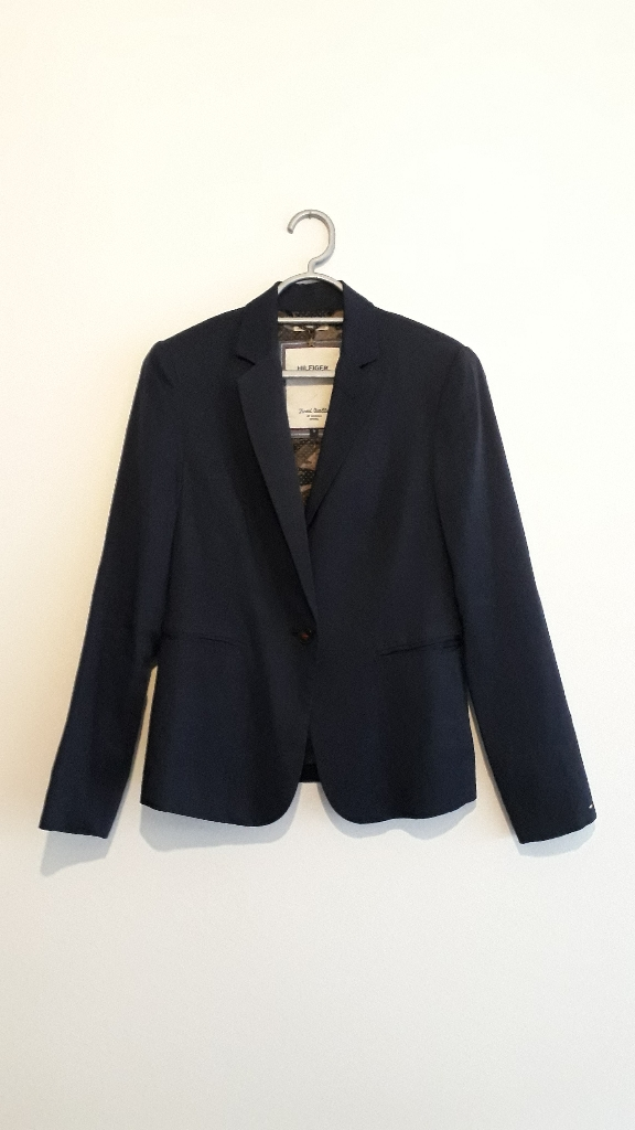 Hilfiger Denim Blue Womens Jacket with Camo lining