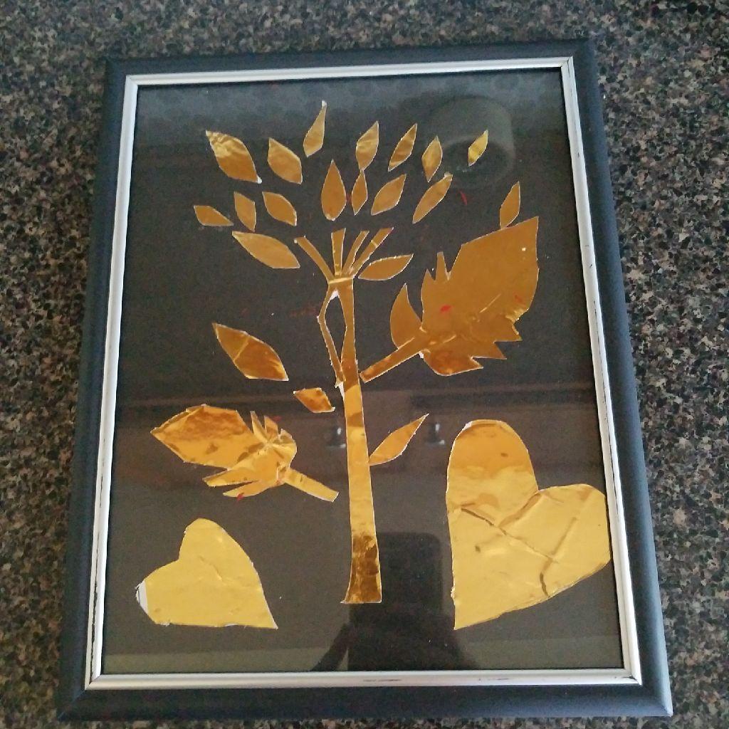 Gold leaf art frame