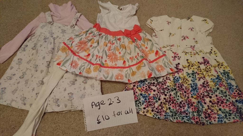 Girls clothes and grow bag