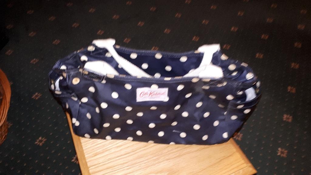 Kath Kitson Blue and White Spotted Handbag