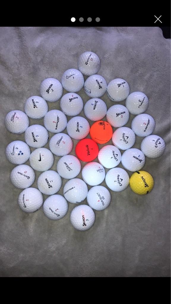 35 golf balls